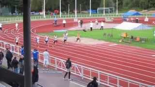 Oskari Lehtonen M17 SM 2014 100m finaali
