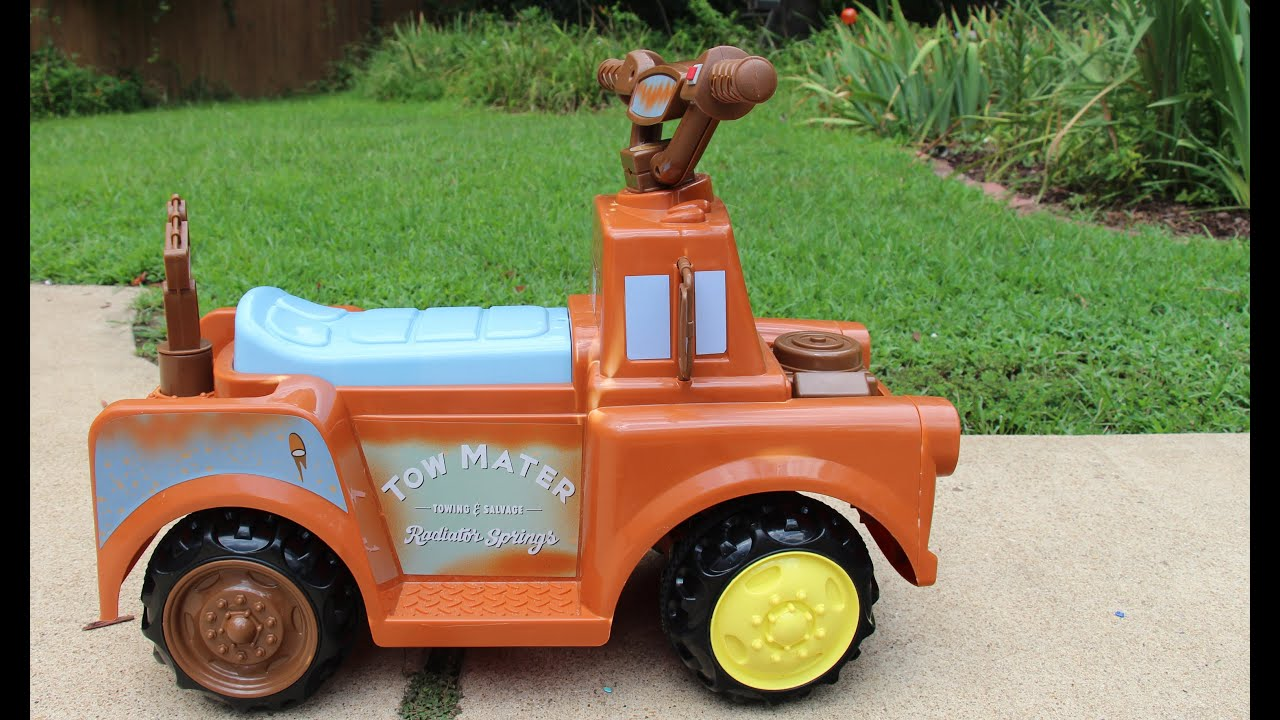 Disney Cars Mater Battery Ed Ride On Quad Review