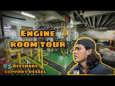 Engine Room Tour | Offshore Support Vessel