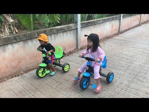 น้องภูมิ | แข่งจักรยานสามล้อเด็กกับพี่ครีม