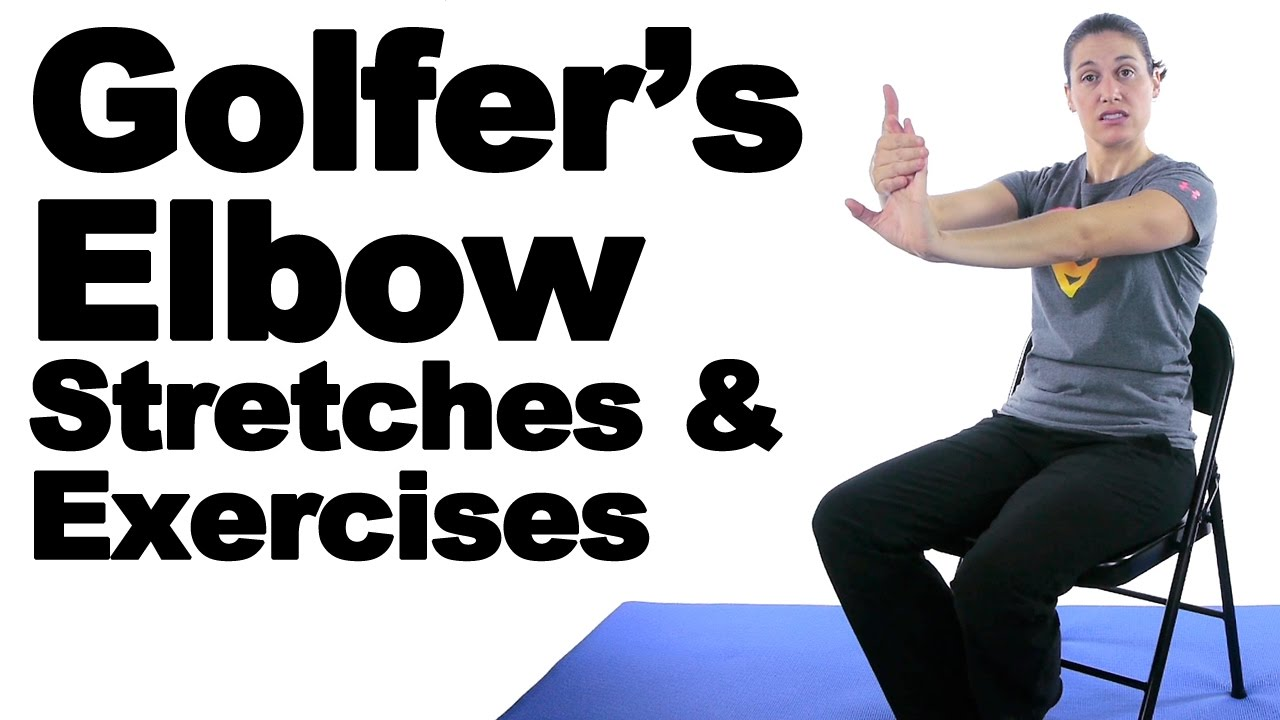 Golfer's Elbow Stretches & Exercises - Ask Doctor Jo - YouTube