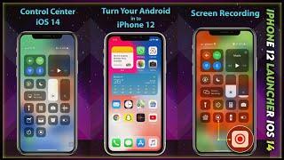iPhone 12 Launcher, OS 14 iLauncher, Control Center screenshot 1