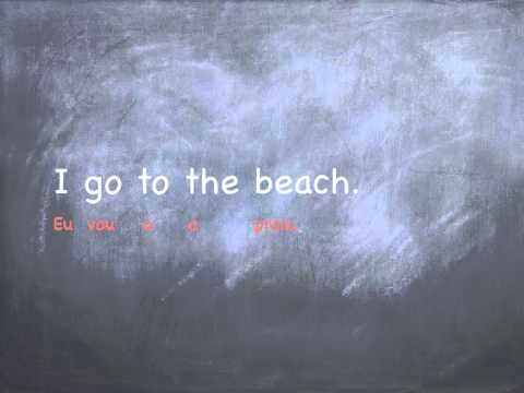 European Portuguese Lessons - TO THE with the verb TO GO in Portuguese