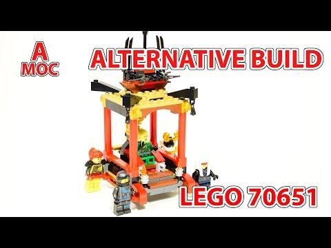 LEGO 70651 palanquin for LLoyd. Alternative build Ninjago review  [A MOC]