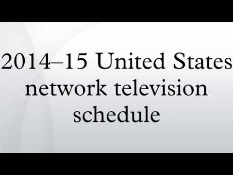 2014--15 United States network television schedule
