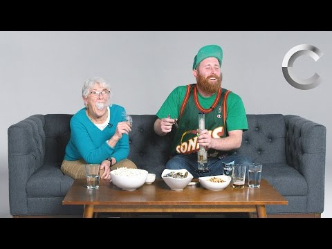 Dude Smokes Weed with his Grandma for the First Time | Strange Buds | Cut