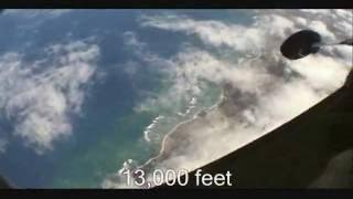 Andy Stapp Sky Dives on the North Shore of Hawaii