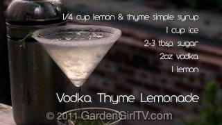 How To Make Vodka Thyme Lemonade
