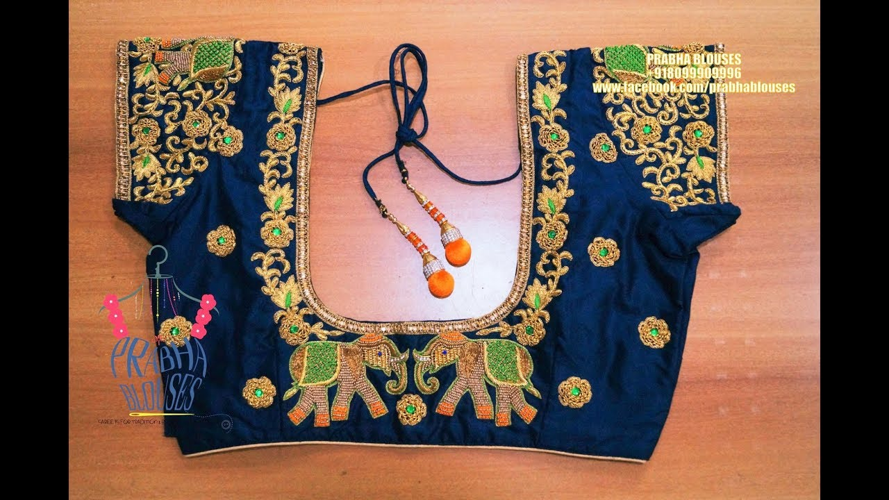 Episode 599embroidery Blouse Designs For Silk Saree Youtube