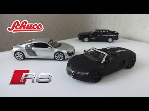 Масштабные модели Audi R8 V10 (Coupe / Spyder Concept Black) Schuco