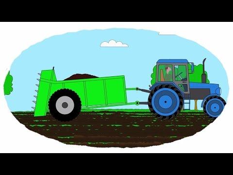 Das Zeichentrick Malbuch Traktorenanhanger Youtube