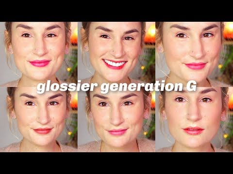 ALL 6 NEW GLOSSIER GENERATION G LIPSTICKS SWATCHED (with time stamps!)
