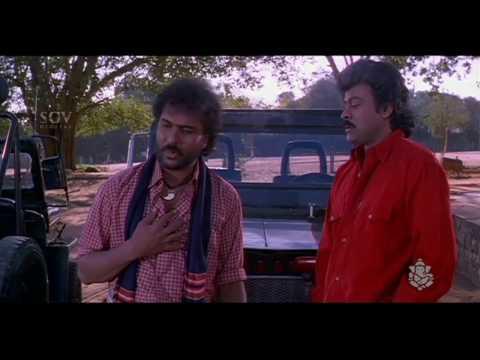 Ravichandran And Chiranjeevi Dialogues | Sipayi Kannada Movie Scene | Soundarya Hits