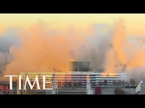 Download Youtube: The Georgia Dome Imploded Today: Watch The Mesmerizing Video, It Took 240 Tons Of Explosives   TIME