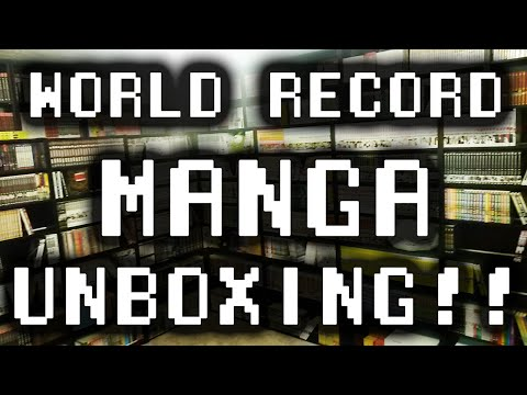 WORLD RECORD MANGA UNBOXING ~ Andrew Tsundoku Sets up the New Library