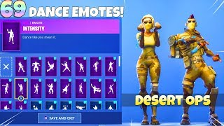 69 DANCE EMOTES on NEW! DESERT OPS SKIN SET! Fortnite Battle Royale