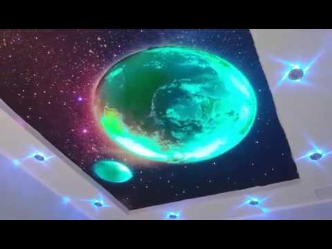 Звездное небо с засветкой планет Potolkoff61