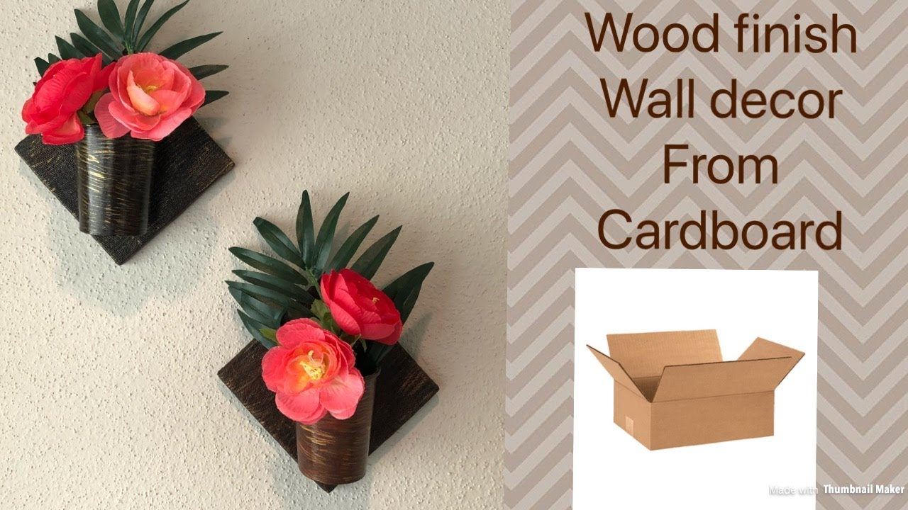 How To Make Wood Finish Wall Decor From Cardboard Diy