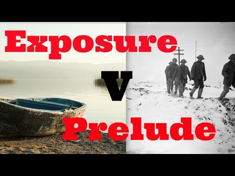 How to Compare Owen's Exposure and Wordsworth's Prelude for