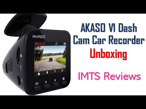 AKASO V1 Dash Cam Car Recorder Unboxing 2019