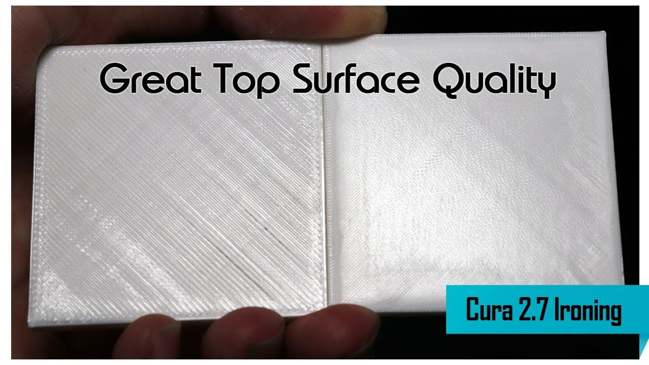 Cura Top Layer Ironing - Great 3D Printing Top Surface Quality