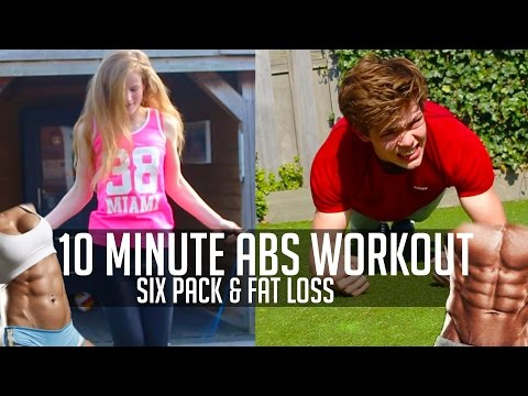 10 Minute Abs Workout (SIX PACK ABS!) – Fat Loss ABS Workout at Home for Beginners