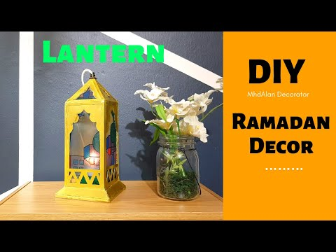 How to make Moroccan Lantern with Cardboard   DIY
