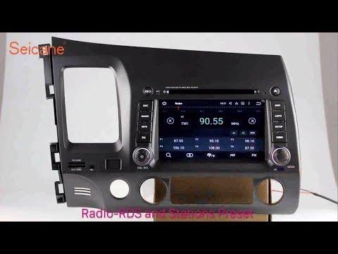 2006-2011 Honda Civic Radio GPS Navigation DVD Player Support 3G 4G WIFI TV DAB+
