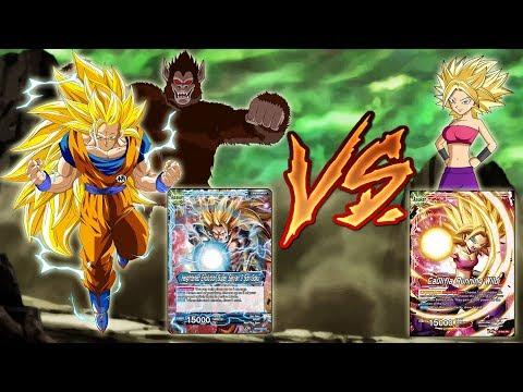 Caulifla vs Super Saiyan 3 Goku Apes Dragon Ball Super Card Game Battle!