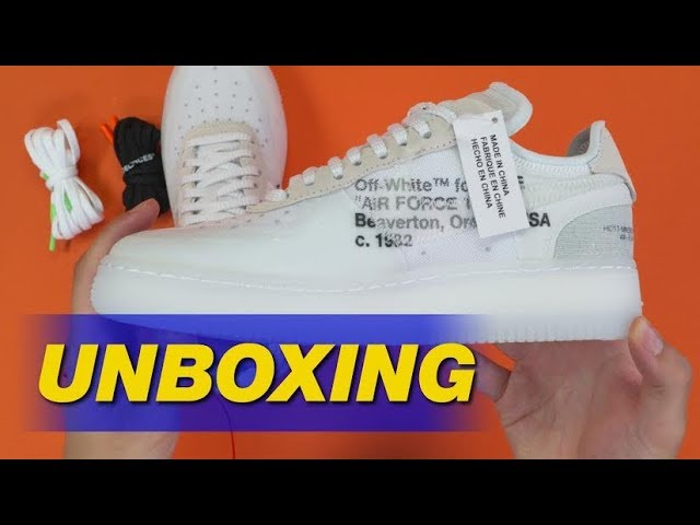 Off White X Nike Air Force 1 By Virgil Abloh Unboxing Youtube
