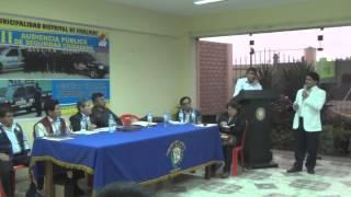 Tercera Audiencia Pública de Seguridad Ciudadana - Hualmay