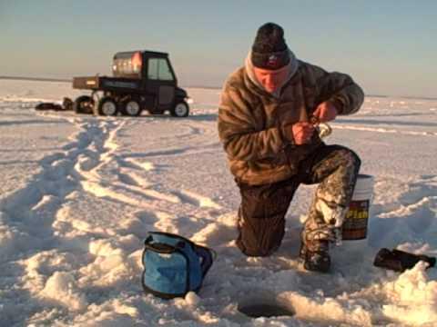 Door County Ice Fishing For Big Walleyes January 20 2009