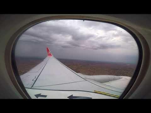 B 737-900 ER Burkino Faso, Ouagadougou International Airport Landing by GoPro ( Turkish Airlines )