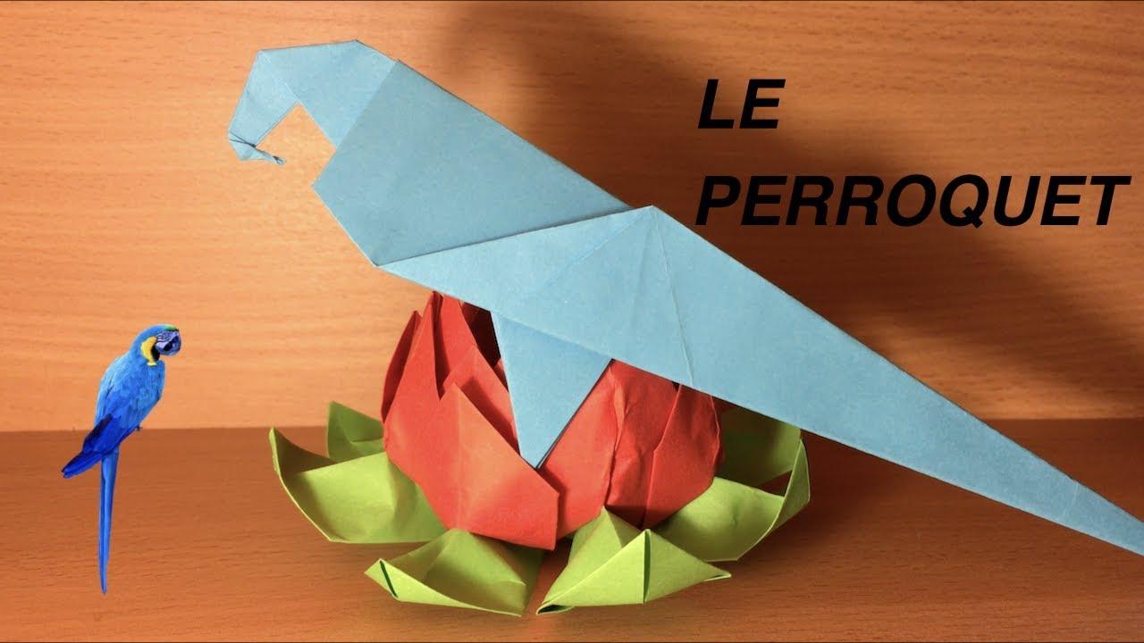 comment faire un perroquet en origami ? (origami facile) - youtube
