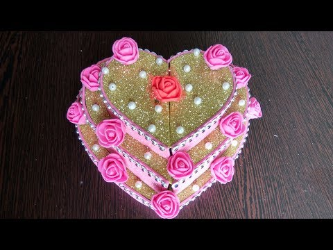 DIY | Valentine's day gift | Heart shaped cake | Pizza box reuse | Best out of waste | Chocolate box