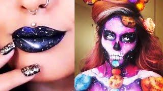 Космический макияж, маникюр. Галактика. Space makeup, manicures. nails art 2016 Galaxy instagram
