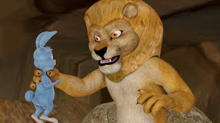 The Big Lion And The Rabbit | Stories for Children | Infobells