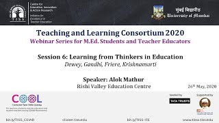 [COOL Webinars | TALC 2020 | Teacher Education] Session 6: Thinkers on Education