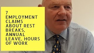 This video looks at 7 claims you can bring to the wrc pursuant organisation of working time act, 1997. they relate annual leave, rest breaks, maximum hours, public holiday ...