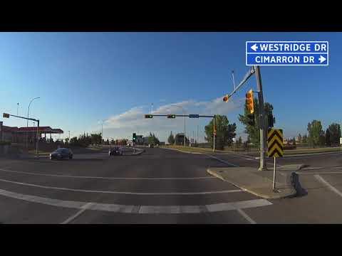 Okotoks, Alberta: City Drive Through