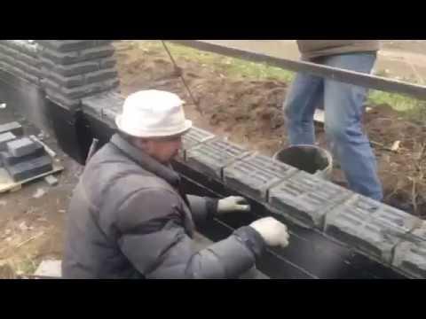 Круглые столбы забора из кирпича ФАГОТ +7(495)517-56-01из YouTube · Длительность: 42 с