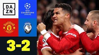 Nach 0:2 Rückstand: CR7 dreht das Spiel: Man United - Atalanta 3:2   UEFA Champions League   DAZN