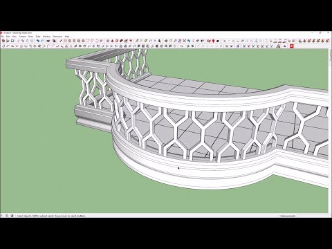 How to create curve balcony in sketchup
