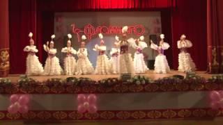 Шуағын шашқан гүл көктем! «Фламинго»  отчетный концерт ансамбля народного танца.