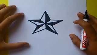 Como dibujar una estrella paso a paso | How to draw a star