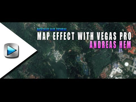 How To Make Map/Fake Drone Effects Like Andreas Hem With Vegas Pro 2017