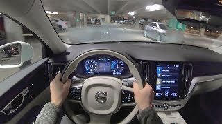 2019 Volvo V60 T6 AWD Momentum - POV First Impressions (Night Drive)