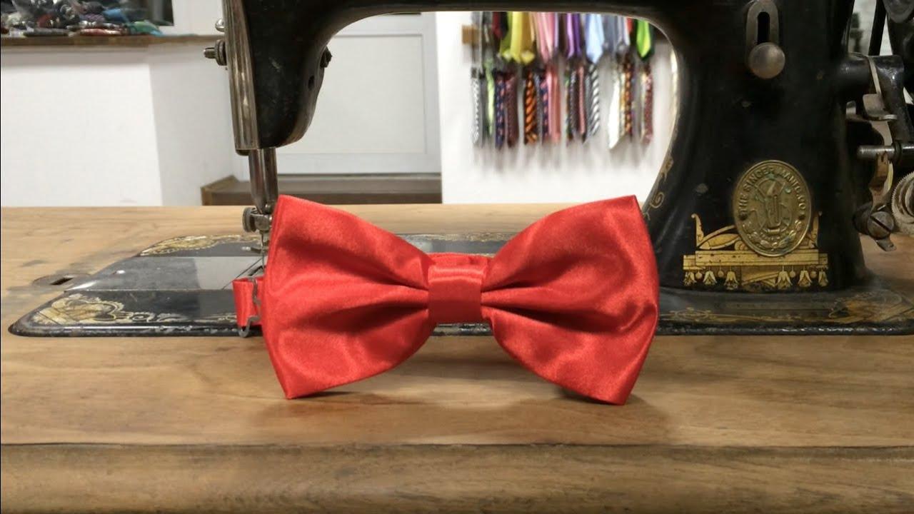 МК Бабочка галстук из репсовой ленты для мальчика. - YouTube