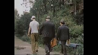 Родимое пятно, 1986. Один рабочий и три начальника.