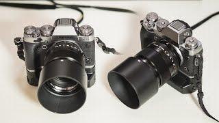 Fujifilm X-T1 Graphite Silver, Fuji 56mm F1.2 and vertical grip w/ Fujifilm X-E2